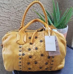 Constanza Rota Yellow Hobo satchel